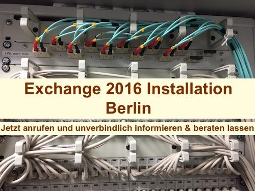 Exchange 2016 Installation Berlin